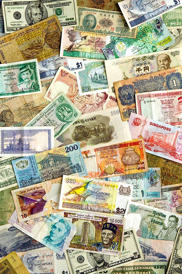 Sedlar från olika valutor